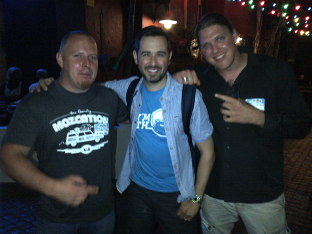 Anthony Coe and Ainzley Van de Merwe of Mediatorr with Rand Fishkin at Mozcation 2013 in Cape Town